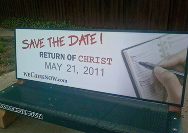 Date of rapture announcement (2011-05-21)