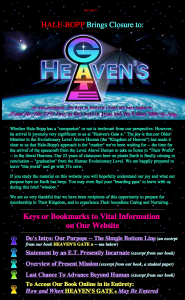 Heaven's Gate® - How and When It May Be Entered - screen capture