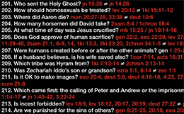 Biblical Contradictions (screen shot from Project Reason)