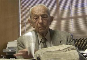Harold Camping is seen reading the Bible in his office at Family Stations Inc. offices in Oakland, California in this still image from video May 16, 2011. Credit: Reuters/Reuters Television