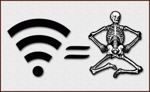 'Wifi equals Death!' the battle-cry of electrosensitives / PsiCop, based on originals by shokunin & johnny automatic at Open Clip Art Library