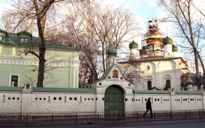 The Sretensky Monastery the oldest Orthodox monastery in the center of Moscow Photo: ALAMY, via Telegraph