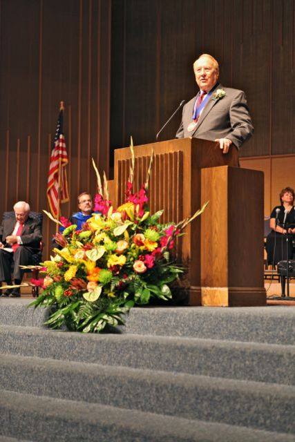 Louisiana College, via the Christian Post / Dr. James Dobson, founder of Focus on the Family, speaks at the chapel service for the 2012 Founder's Day observance at Louisiana College.