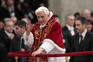 Pope Benedict XVI blessing members of the Order of the Knights of Malta at the Vatican on Saturday. Samantha Zucchi Insidefoto/European Pressphoto Agency, via the New York Times.