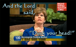 And the Lord said, 'Duck your head!' / 'Prophet' Cindy Jacobs / from RWW video