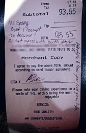 I'm a server at Gallop Asian Bistro in Bridgewater, NJ and THIS is what happened to me today..... / Have a Gay Day Facebook timeline photo