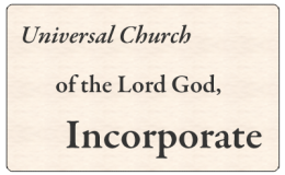 Universal Church of the Lord God, Incorporate (PsiCop original graphic)