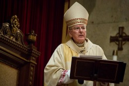 Archbishop John Nienstedt celebrated Holy Thursday Mass in April 2015 at the Cathedral of St. Paul. Jennifer Simonson | MPR News