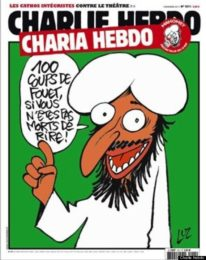 '100 lashes if you don't die of laughter' (English translation) / Charlie Hebdo, via Huffington Post
