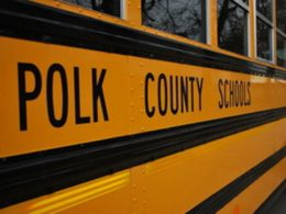 Side of Polk cty (FL) school bus, via the (Lakeland, FL) Ledger