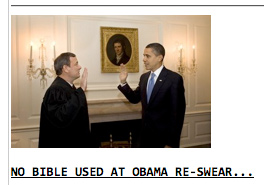 Roberts & Obama, re-oathing, as seen on Drudge Report
