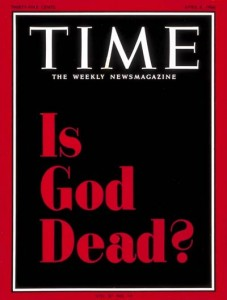 Time magazine cover / April 8, 1966 / 'Is God Dead?' by John T. Elson