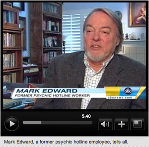 ABC News report on Mark Edward, an admitted phony 'psychic'