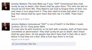 Facebook Rant of Jeremy Walters, GOP candidate for Iowa's 67th state House district