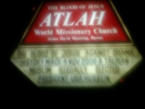 The blood of Jesus against Obama history made 4 Nov 2008 a Taliban Muslim illegally elected president USA:Hussein.