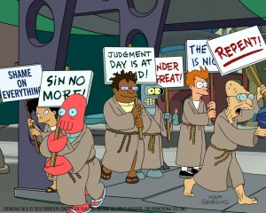 Futurama, end of the world panic