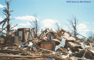 Tornado damage photo courtesy of NOAA