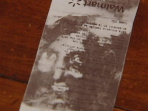 Picture on receipt / WYFF-TV