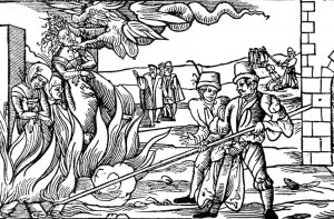 "Some 25,000 alleged ""witches"" were executed between 1500 and 1782 in Germany. Germany was responsible for the deaths of some 40 percent of the 60,000 witches who were tortured and killed in Europe during the infamous era, says witch-trial expert Hartmut Hegeler. This woodcut shows a witch being burned at the stake in Dernburg in 1555."