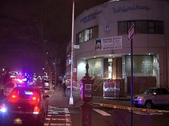 Police are investigating a firebomb attack against the Imam Al-Khoei Foundation building and three other sites in Queens, New York. (CBS 2)