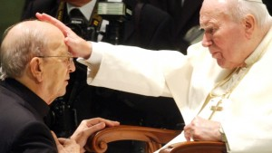Pliino Lepri, AP / Pope John Paul II blesses late father Marcial Maciel, founder of Christ's Legionaries, in November 2004. The Vatican is now investigating seven priests from the Legion of Christ religious order for alleged sexual abuse of minors.