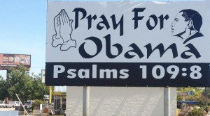 KENS-TV / 'Pray for Obama' sign stirs controversy over Biblical verse