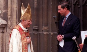 The retired bishop Peter Ball, pictured with Prince Charles in 1992. Photograph: SWNS.com, via (UK) Guardian.