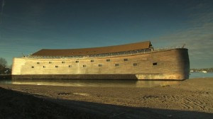 This ark, located an hour south of Amsterdam, is a replica of Noah's Biblical boat. Underwater archaeologist Robert Ballard is in Turkey, looking for evidence that the Great Flood happened. (ABC News)