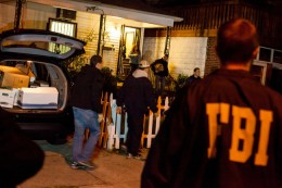 Federal Bureau of Investigation agents raided a home in the Kensington neighborhood of Brooklyn early Thursday morning.  / Michael Nagle for The New York Times
