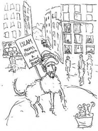 Lars Vilks Muhammad cartoon, via Gawker