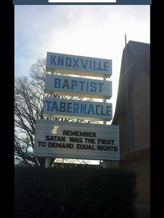 A Knoxville church's message has drawn criticism from some in the community. Submitted to WBIR-TV.