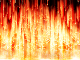 Lake of Fire by BenRR / via DeviantArt