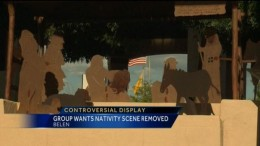 The mayor argues that this Nativity scene celebrates the town's origins. / KOAT-TV