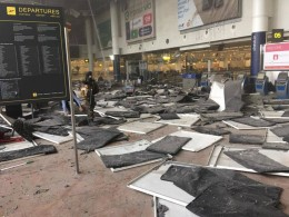 Aftermath of Brussels airport bombing / (UK) Independent
