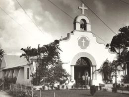 An April 1972 Pacific Daily News file photo of Santa Teresita Church in Mangilao. Leo Tudela told Guam lawmakers this week that a former Guam priest, Louis Brouillard, molested him at the church's rectory one night in the 1950s. (Photo: PDN file)