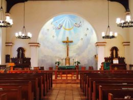 Church interior / Immaculate Conception Catholic Church San Diego Web site