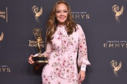 Leah Remini & her Emmy / David Crotty, Patrick McMullan/Getty Images, via People