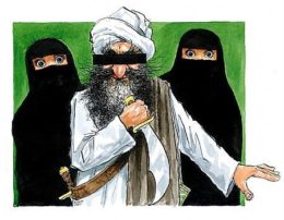 One of the Jyllands-Posten Muhammad cartoons, via Assyrian Information Management